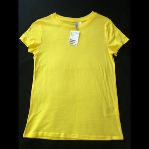 H&M neons yellow basic shirt